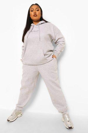 adidas Plus - Woman Träningsoverall Med Huva, Grey