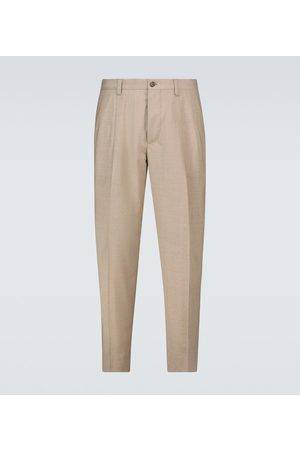 adidas Stretch-wool tailored pants