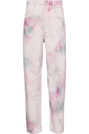 adidas Corfy tie-dye high-rise straight jeans