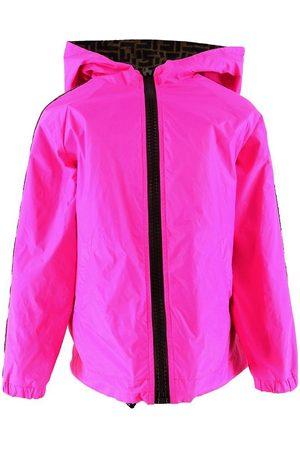 Fendi Jacka - Vändbar - Pink m. Allover Logo