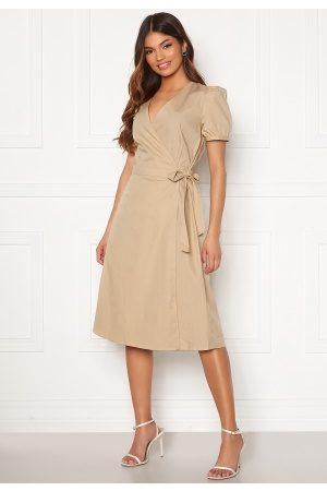 adidas Sille S/S Wrap Midi Dress Nomad 38