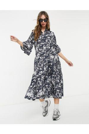 & OTHER STORIES – Marmorfärgad skjortklänning i midilängd-Flera färger