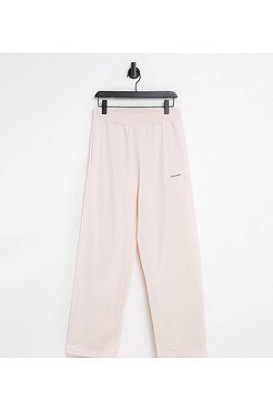 COLLUSION – Unisex – avslappnade mjukisbyxor med hög midja, del av set-Pink
