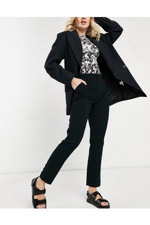 JDY – Svarta byxor med raka ben och hög midja
