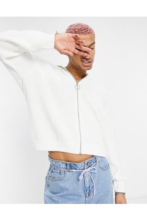 ASOS – stickad tröja i oversize med ståkrage och dragkedja