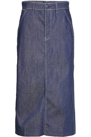 G-Star New Revynn Ultra High Skirt C Knälång Kjol Blå