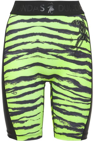 Dundas Printed Lycra Biker Shorts W/ Side Logo