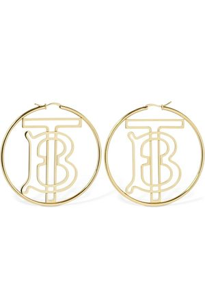 Burberry Tb Logo Hoop Earrings