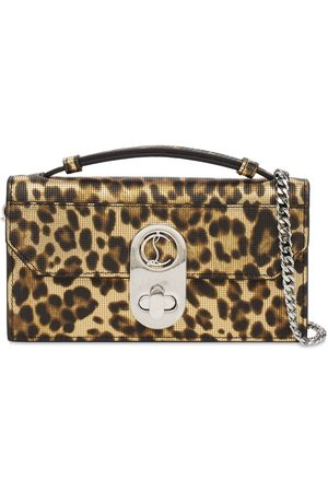 Christian Louboutin Elisa Baguette Leopard Print Leather Bag