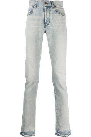 Saint Laurent Straight-jeans med blekt effekt