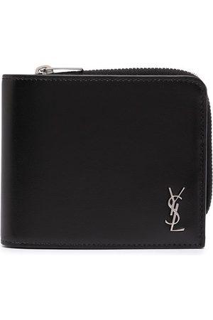 Saint Laurent Man Plånböcker - YSL plånbok med omslutande dragkedja och plakett