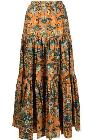 La DoubleJ Kvinna Mönstrade kjolar - Blommig maxikjol