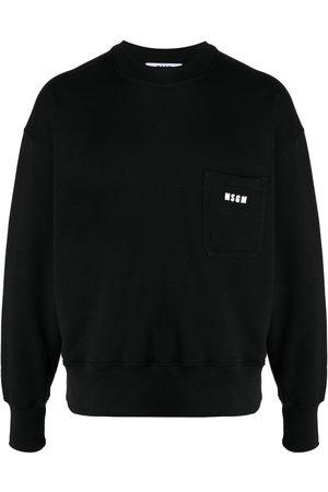Msgm Sweatshirt med logotyp
