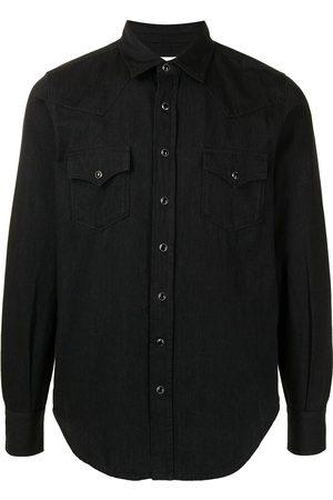 Saint Laurent Jeansskjorta med spetsig krage