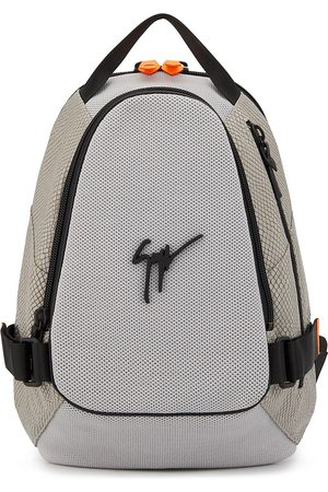 Giuseppe Zanotti Tonal panel logo-appliqué backpack