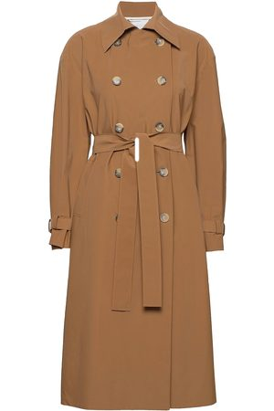 Harris Wharf London Women Over D Trench Coat Light Technic Trench Coat Rock Beige