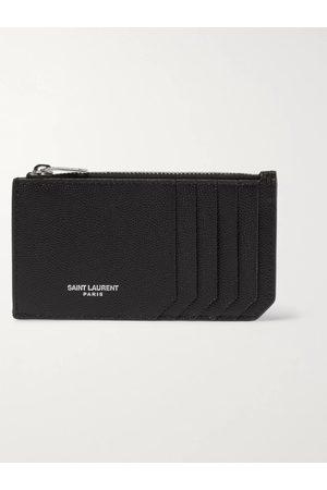 Saint Laurent Man Plånböcker - Pebble-Grain Leather Cardholder