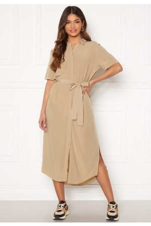 Pieces Cecile SS Long Dress White Pepper M