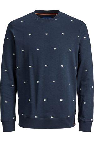 Jack & Jones Man Sweatshirts - Öglestickat Heltäckande Tryck Sweatshirt Man