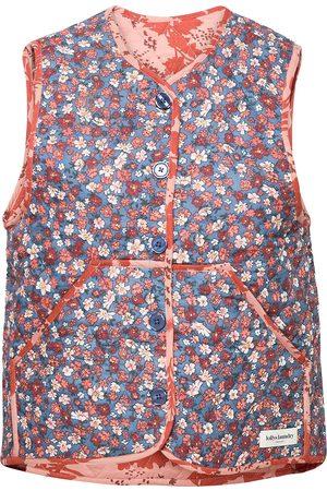Lollys Laundry Kvinna Västar - Santiago Vest Vests Knitted Vests Orange