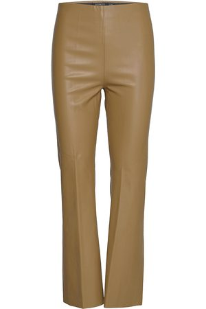 Soaked in Luxury Slkaylee Pu Kickflare Pants Leather Leggings/Byxor Grön