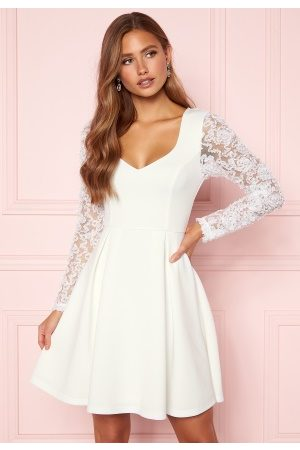 Moments New York Kvinna Klänningar - Clara Scuba Dress White 40