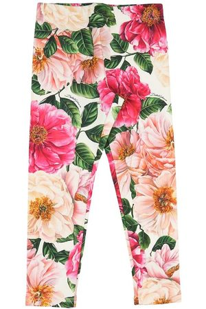 Dolce & Gabbana Flicka Leggings - Leggings - Rosa Blommor
