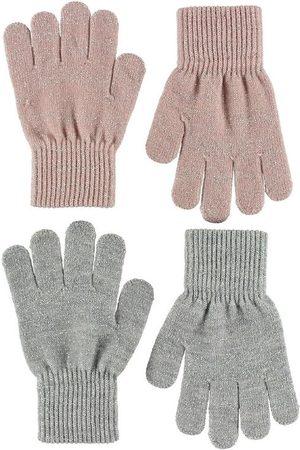 Melton Handskar - 2-pack - Grå/ m. Glitter