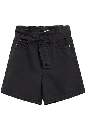 Grunt Flicka Väskor - Shorts - Denim - Paper Bag - Night Black