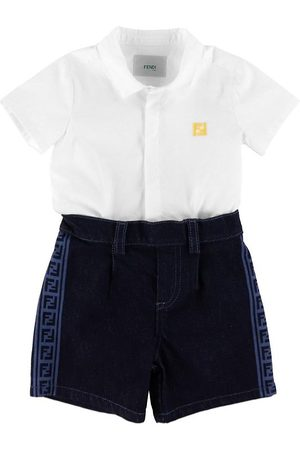 Fendi Set - Skjorta/Shorts - /Denim Mörkblå