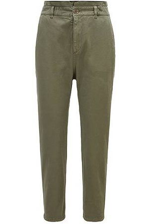 HUGO BOSS Kvinna Chinos - Cropped chinos in stretch cotton