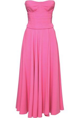 Dolce & Gabbana Pleated Viscose Cady Midi Dress