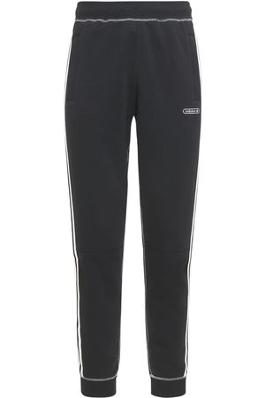 adidas Contrast Stitch Cotton Blend Sweatpants