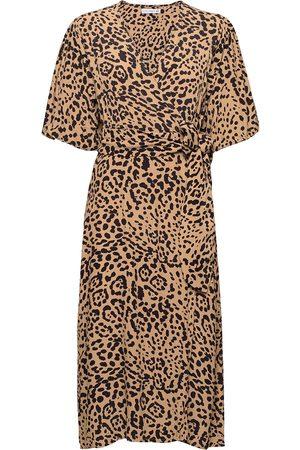 FAITHFULL THE BRAND Elfrida Wrap Dress Dresses Wrap Dresses Creme