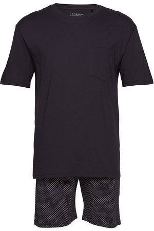Schiesser Pyjama Short Pyjamas Svart