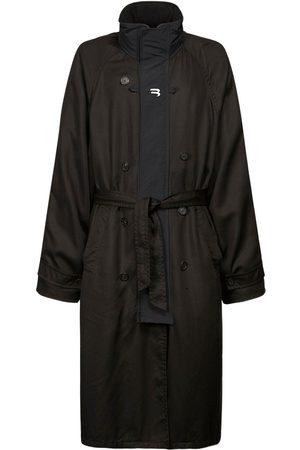 Balenciaga B Print Tech Gabardine Sport Trench Coat