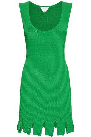 Bottega Veneta Knit Mesh Sleeveless Mini Dress