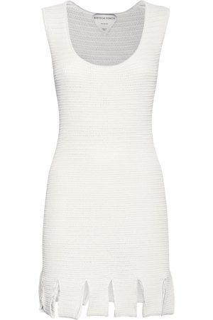 Bottega Veneta Knit Mesh Sleeveless Mini Dress