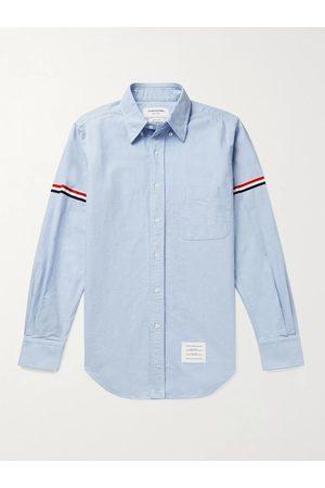 Thom Browne Button-Down Collar Grosgrain-Trimmed Cotton-Oxford Shirt