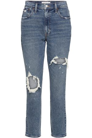 Abercrombie & Fitch Anf Womens Jeans Boyfriend Jeans Blå