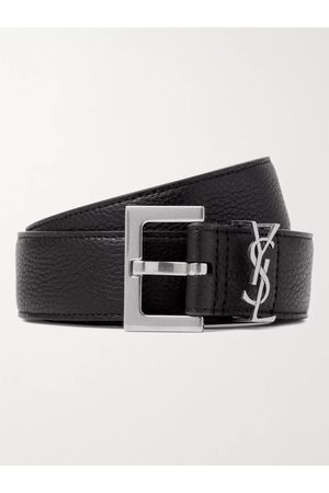 Saint Laurent Man Bälten - 3cm Full-Grain Leather Belt