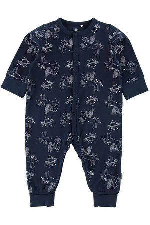 CeLaVi Flicka Pyjamas - Pyjamas - Marinblå m. Enhörningstryck