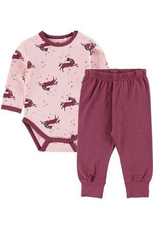 CeLaVi Flicka Pyjamas - Pyjamas - Rosa/Bordeaux m. Enhörning