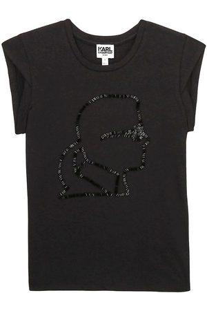 Karl Lagerfeld T-shirt - Digit Aesthetic - m. Paljetter