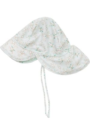 Mini A Ture Flicka Hattar - Badhatt - Gustas - UV50+ - Pale Aqua m. Blommor