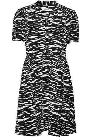 Calvin Klein Short Slv V-Nk Short Dress Kort Klänning