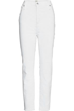 J.Crew Kvinna High waist - Lookout High-Rise Jean In White. Raka Jeans