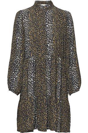 Notes Du Nord Taylor Leopard Short Dress Kort Klänning Brun