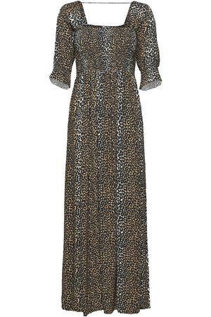 Notes Du Nord Taylor Leopard Maxi Dress Maxiklänning Festklänning Brun