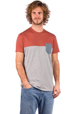 Iriedaily Block Pocket 0 T-Shirt grey red
